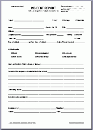 Incident Investigation Report Template by 4 Incident Report Form Care Giver Resume