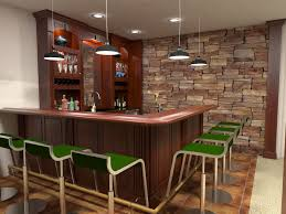 building cozy basement bar with these home design plans and