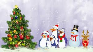 winter navidad feliz whimsical sing tree penguins christmas cute