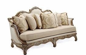 exposed solid mahogany wood frame formal sofa set