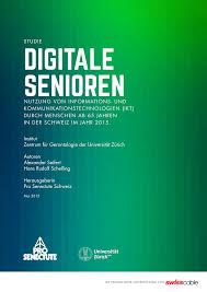 K Hen Schweiz Digitale Senioren Nutzung Von Informations Und