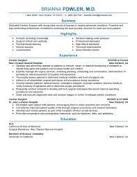 Example Of Healthcare Resume by Best Surgeon Resume Example Livecareer