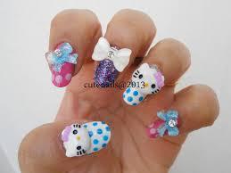cute nails 3d hello kitty nail art