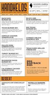 concrete cowboy chi menu main menu