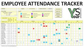 Tracking Spreadsheet Template Employee Attendance Tracker Spreadsheet Youtube