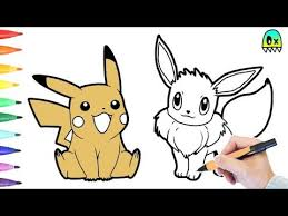 pokemon color pages pikachu pokemon coloring pages pikachu and eevee colouring book fun youtube