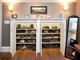 Shoe Closet With Doors Entryway Shoe Storage Design Dans Design Magz Beautiful