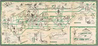 Maps Of New York cartoon map of new york 1938 maps pinterest