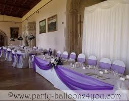 tulle decorations purple balloon and tulle decorated serving area great for
