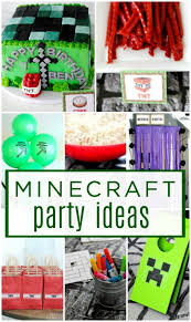minecraft party supplies minecraft kids birthday party ideas lemonade