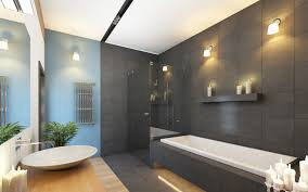 Grey Modern Bathroom Modern Bathroom Design Tiles The Possible Modifications For The