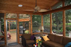 Screened In Deck Plans Exterior Rescreening A Porch With Install Screen Porch Panels Also
