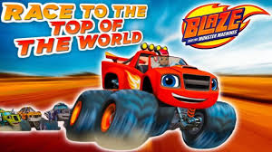 monster truck videos for kids online blaze race to the top of the world kids games online videos