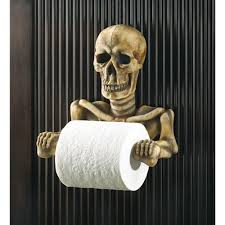 themed toilet paper holder skeleton skull toilet paper holder bathroom decor whyrllcom skull