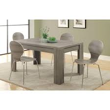 36 inch dining room table modern 60 x 36 inch dark taupe rectangular dining table
