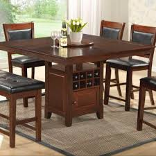 Dining Room Table With Wine Rack by Counter Height Table With Wine Rack Storage Lazy Susan And