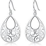 sterling silver earrings for sensitive ears sterling silver filigree dangle drop chandelier