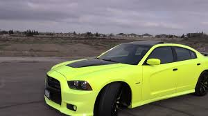 neon paint job srt8 charger youtube