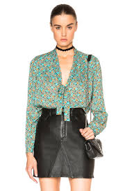 scarf blouse laurent floral print scarf blouse in multi fwrd