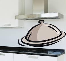 cloche de cuisine sticker cuisine cloche de repas tenstickers