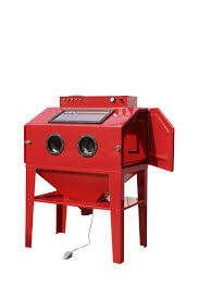 dry type shot blasting cabinet 450lhigh quality free dust