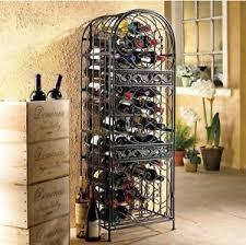 Metal Locking Storage Cabinet Metal Wine Jail Rack 45 Bottles Holder Locking Storage Cabinet