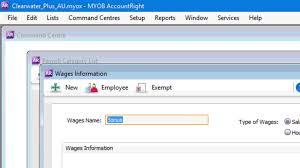 payroll categories myob accountright myob help centre