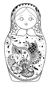 free coloring page coloring russian dolls 5 babushka u0027s