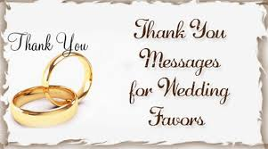 thank you favors thank you messages for wedding favors