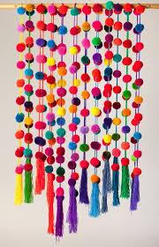 handmade colorful pompom garlands beautiful 150 cm 59