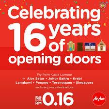 airasia singapore promo airasia celebrating 16 years of opening doors promotion loopme