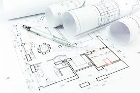 home construction plans home construction plans and pencil stock image image of