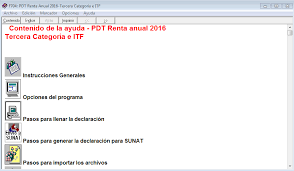 balance de comprobacion sunat renta anual 2016 pdt 704 noticiero contable