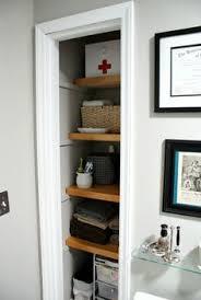 closet bathroom ideas take the door your bathroom linen closet for a chic and open