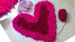 heart shaped shag rug diy valentines day pink and red rug youtube