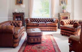 chesterfield sofa leather 3 seater brown edward fleming