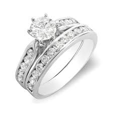 Vintage Wedding Ring Sets by Wedding Rings Set For Her 1 Carat Vintage Round Diamond Wedding