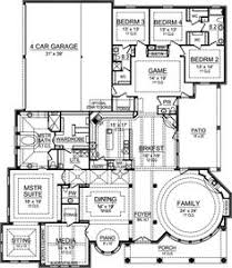 1 Story 4 Bedroom House Floor Plans Southern Style House Plans 2531 Square Foot Home 1 Story 3