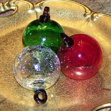 mexican recycled glass ornaments