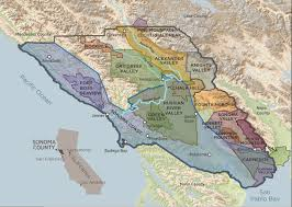 San Francisco Fog Map by Sonoma County Sonoma County Wine Growers