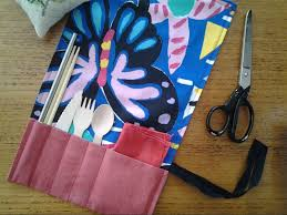 cutlery wrap sewing tutorial the rogue ginger going zero waste