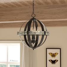 Candle Chandelier Lighting Laurel Foundry Modern Farmhouse Pearl 4 Light Candle Style
