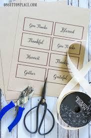 thanksgiving napkin rings free printable on sutton place
