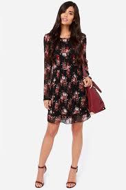 sleeved black dress lingones dress black dress floral dress sleeve dress