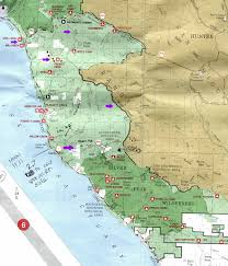 Ojai California Map Free Camping Socal Los Padres National Forest Mt Pinos