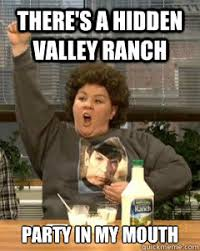 Snl Meme - there s a hidden valley ranch party in my mouth melissa mccarthy