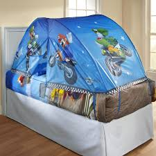 exciting design ideas of kids tent fpr bed with cuite purple color