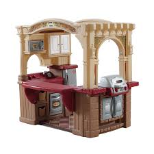 Kitchen Sets For Kids Step 2 Amazon Com Step2 Grand Walk In Kitchen And Grill Brown Tan