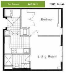 One Bedroom Floor Plans One Bedroom Units