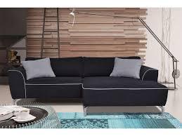 canapé 5 places pas cher canapé angle fixe 5 places coloris noir gris